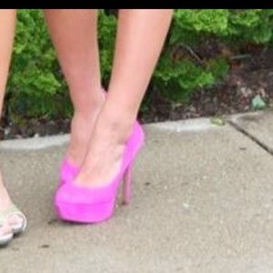 Jessica Simpson Shoes - Hot pink suede 8 1/2 Jessica Simpson
